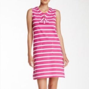 Kate Spade White And Pink Striped Dress Size S